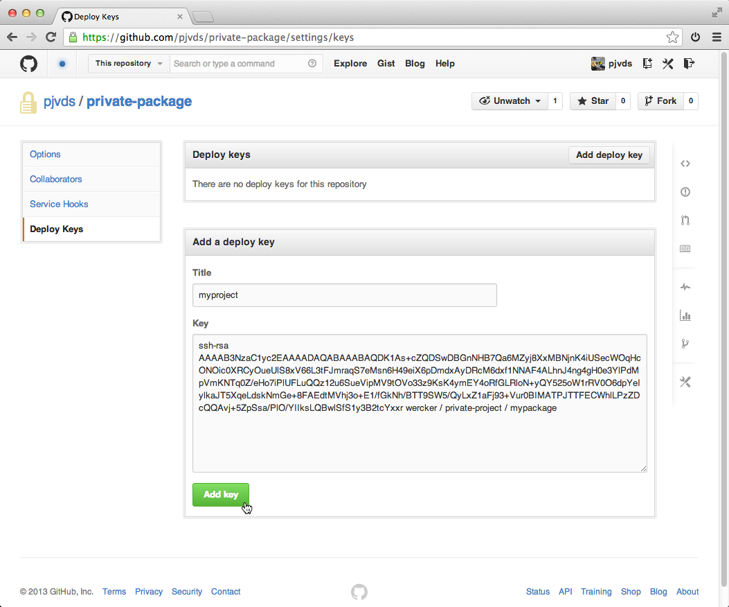 Import a Go package from a private git repository
